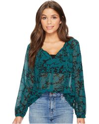 Lucky Brand - Marble Printed Top - Lyst