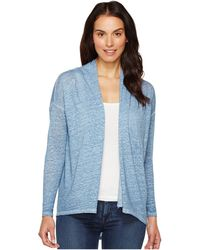 Two By Vince Camuto - Long Sleeve Pigment Dye Drape Front Cardigan - Lyst