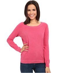 Alternative Apparel - Washed Slub Slouchy Pullover - Lyst