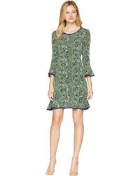 MICHAEL Michael Kors - Plus Size Paisley Flounce Dress (true Navy/green Apple Multi) Women's Dress - Lyst
