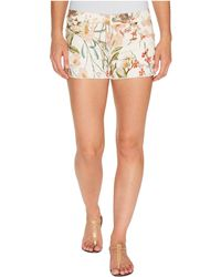 7 For All Mankind | Cut Off Shorts W/ Side Splits & Light Destroy In Tropical Print 2 | Lyst