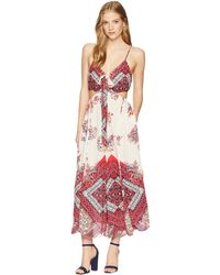18fe7d6728e Lyst - Free People Adelia Embroidered One Piece in Red