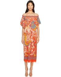 Fuzzi - Off The Shoulder Dress In Dragonessa Print - Lyst