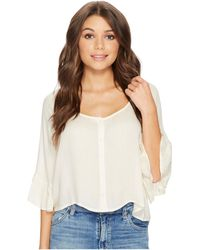 Amuse Society - Cloudscape Woven Top - Lyst