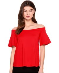 Susana Monaco - Piper Off Shoulder Flutter Top - Lyst