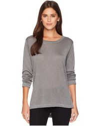 Nally & Millie - Long Sleeve High-low Tunic With Side Slits - Lyst