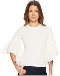 See By Chloé - T-shirt With Poplin Sleeves - Lyst
