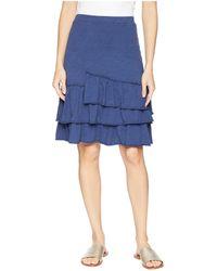 Mod-o-doc - Slub Jersey Tiered Asymmetrical Ruffle Skirt - Lyst