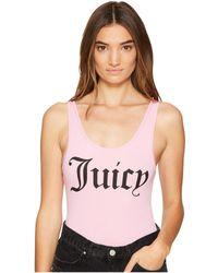 Juicy Couture - Juicy Graphic Scoop Neck Bodysuit - Lyst
