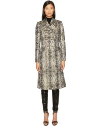 Just Cavalli - Snake Print Double Breasted Coat - Lyst