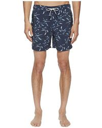 67200feba5 The Kooples Panther Swim Trunks in Yellow for Men - Lyst
