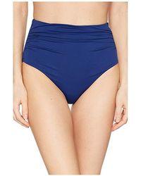 2c65347554 Lauren by Ralph Lauren - Beach Club Solids High-waist Bottom (indigo)  Swimwear