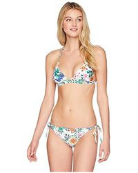 d3a2024adb0e3 Roxy Take Me To The Sea Triangle Bikini Top in Black - Lyst