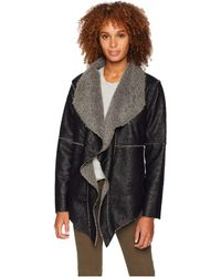 Dylan By True Grit - Embossed Faux Suede Pile Ruffle Coat - Lyst