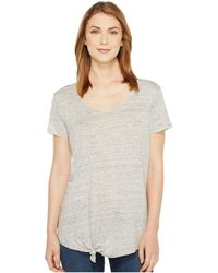 Blank NYC - Tee Shirt With Knot Detail In Tie Trying - Lyst
