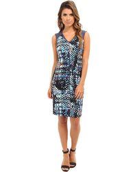 Marc New York - Contrast Yoke Sleeveless Dress Md4h6327 - Lyst
