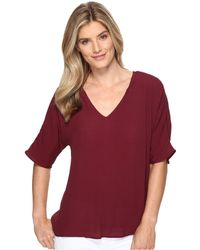 B Collection By Bobeau - Becca Pleat Back Blouse - Lyst