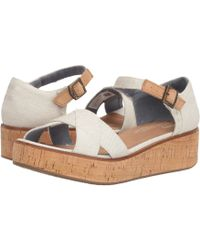 TOMS - Harper (black Textured Chambray) Women's Sandals - Lyst