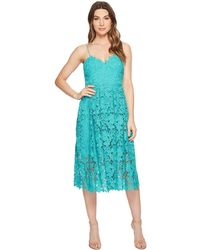 Donna Morgan - Spaghetti Strap Lace Midi Dress - Lyst