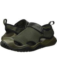 34fda83dcd98 Lyst - Crocs™ Swiftwater Mesh Deck Closed Toe Sandal in Green for Men