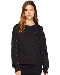 Juicy Couture - Track Terry Embossed Pullover - Lyst