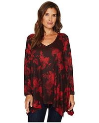 Nally & Millie - Red Print Tunic (multi) Clothing - Lyst