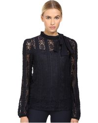 RED Valentino - Jersey Lace Blouse - Lyst