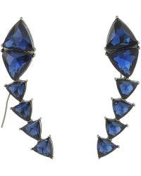 Steve Madden - Triangle Threader Earrings - Lyst