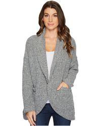 Mod-o-doc - Corded Sweater Knit Shawl Collar Patch Pocket Cardigan - Lyst