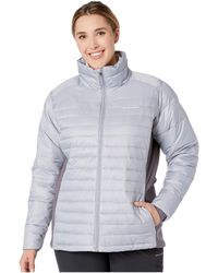 0eeea0a2cb2 Lyst - Columbia Plus Size Powder Pillow Hybrid Jacket in White