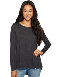 Dylan By True Grit - Slub Gauzy 3 Tier Long Sleeve Tee - Lyst