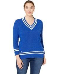 Lauren by Ralph Lauren - Plus Size Cotton Cricket Sweater - Lyst