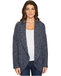 Mod-o-doc - Corded Sweater Knit Shawl Collar Patch Pocket Cardigan - Lyst