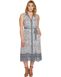 Lucky Brand - Plus Size Printed Emily Dress - Lyst