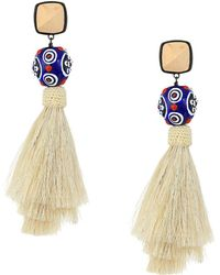 Tory Burch - Silk Tassel Earrings - Lyst