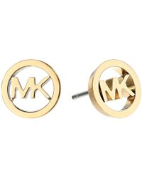 Michael Kors | Logo Tone Stud Earrings | Lyst