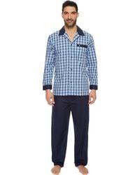 Lyst - Jockey Broadcloth Pajamas Set in Blue for Men a24ffdbaf