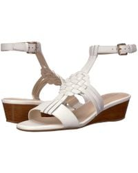 Cole Haan - Findra Woven Slide Wedge Sandal - Lyst