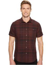 Calvin Klein Jeans - Short Sleeve Plaid Button Down Shirt - Lyst