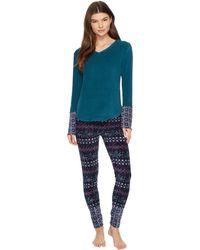 Lucky Brand - Printed Microfleece Pajama Set - Lyst