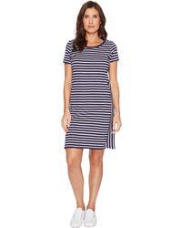 U.S. POLO ASSN. - Mixed Stripe Tee Dress - Lyst