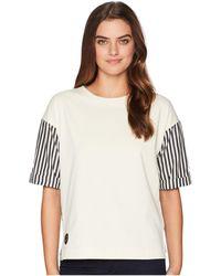 Lauren by Ralph Lauren - Poplin-sleeve Jersey T-shirt - Lyst