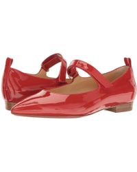 A.Testoni - Pointed Toe Strapped Flat - Lyst