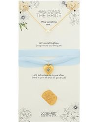 Dogeared - Here Comes The Bride, Small Pearl Necklace, Something Blue Bouquet Wrap, And Sixpence Coin - Lyst