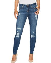 Liverpool Jeans Company - Abby Skinny With Destruct Detail In Vintage Super Comfort Stretch Denim In Smithtown Destruct - Lyst