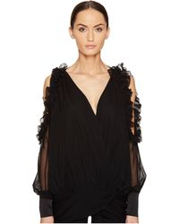 Thomas Wylde - Bluebell Cold Shoulder Long Sleeve Top - Lyst