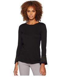 b518ba32bf3fba MICHAEL Michael Kors - Flare Cuff Long Sleeve Stud Top (black) Clothing -  Lyst