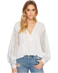 Free People - Boogie All Night Solid Blouse - Lyst