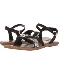 1c2251afc07 Lyst - TOMS Lexie Metallic Strap Flat Sandals in Brown