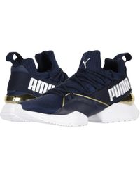 0f15c2af75f Lyst - PUMA Muse Maia Varsity Casual Sneakers From Finish Line